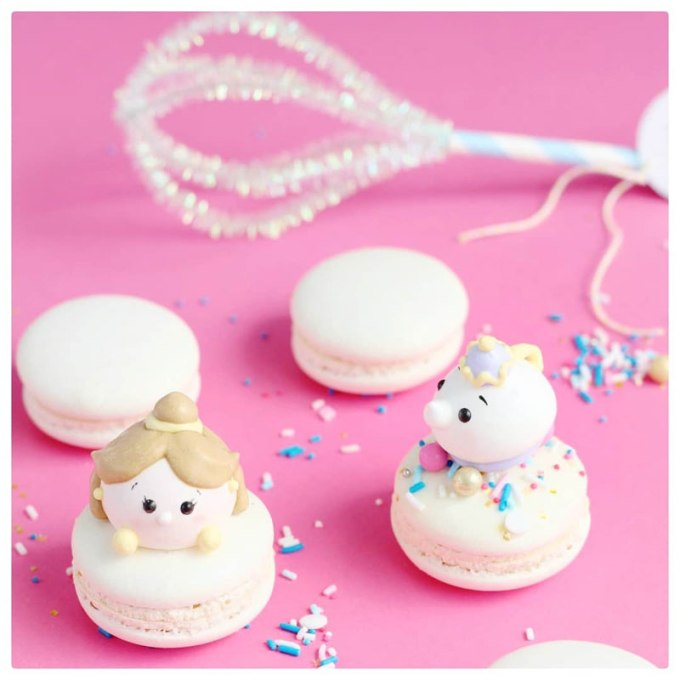macarons with meringue figures