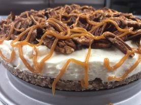 Caramel pecan cheesecake pic